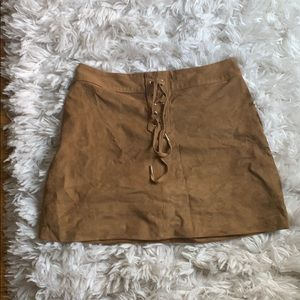 Abercrombie and Fitch brown suede skirt
